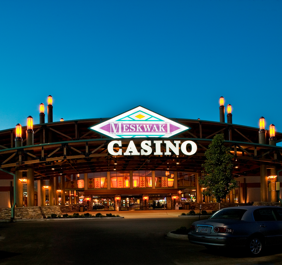 Interactive map of casinos within Iowa