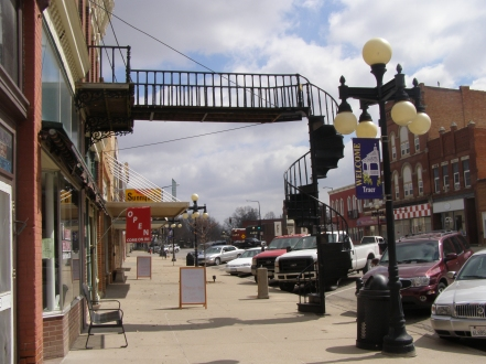 Winding Stairs, Downtown Traer, Iowa